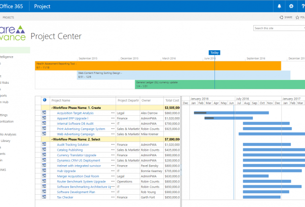 Project Center Proposals - Create   Select