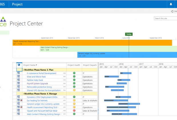 Project Center - Plan   Manage